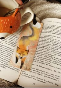 Marque-page Fox Spirit – book.croqueuse sur Instagram