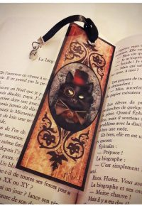 Marque-page Ino le chat Steampunk – floandbooks sur Instagram